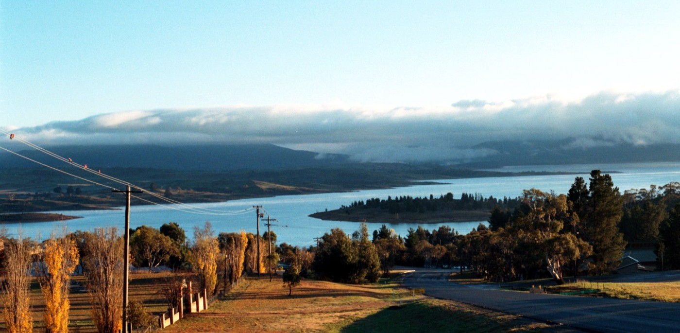 Lake Jindabyne just down the road