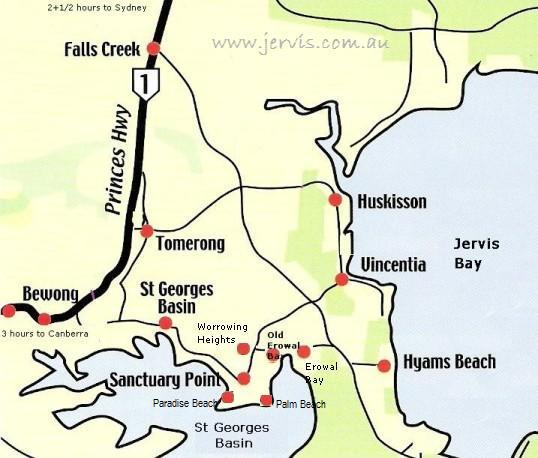 Maps. Jervis Bay south coast NSW